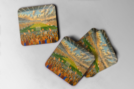 bloomfield road Coaster set of four